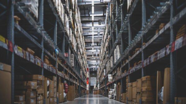 卸問屋の倉庫