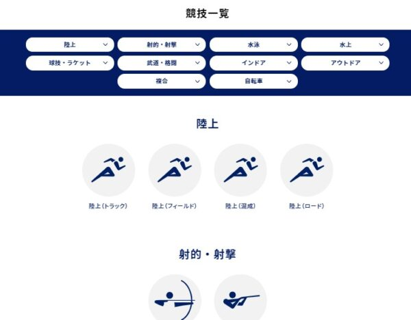 gorin.jp競技一覧画面