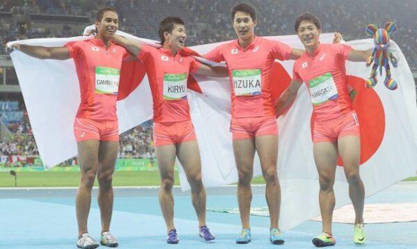 リオオリンピック男子400mリレー